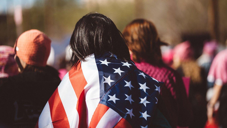 Voter Registration - U.S. Flag