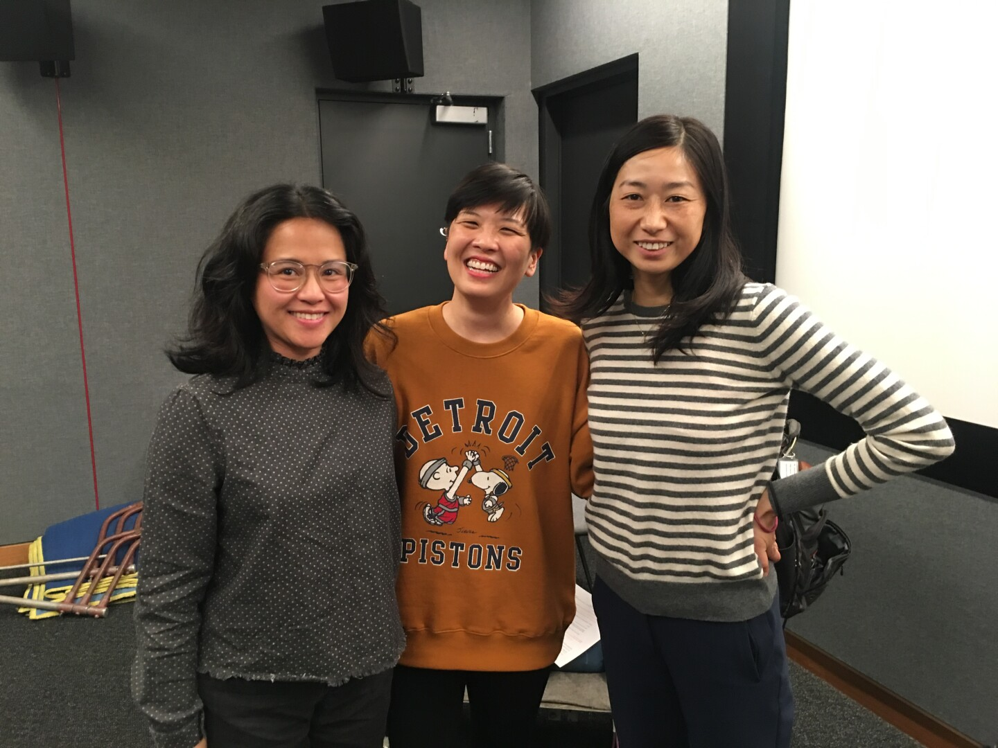 """""""City of Ghosts"""" series creator Elizabeth Ito with Isa Fabro (left) and Kuniko Yagi (right)."""