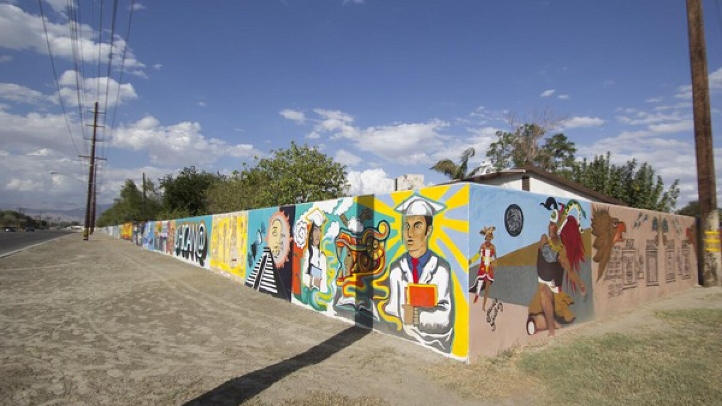 Shady Lane mural wall in the City of  Coachella