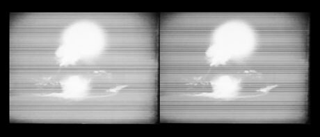 <strong>HONG-AN TRUONG</strong>,<em> Explosions in the Sky (Điện Biên Phủ 1954)</em>, 2007, Video, 3 min., Courtesy of the artist.