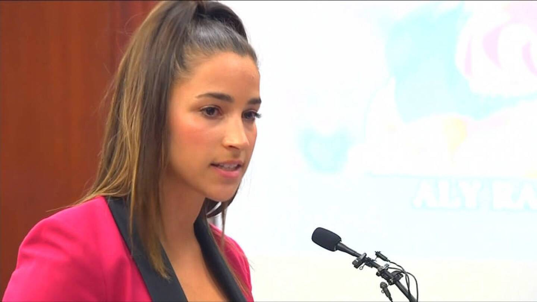 Olympic gold medalist Aly Raisman, testifying against U.S. Gymnastics team doctor Larry Nassar. | Democracy Now
