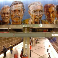 "Wilshire/Western Station. ""People Coming/People Going,"" Richard Wyatt (featured image)"
